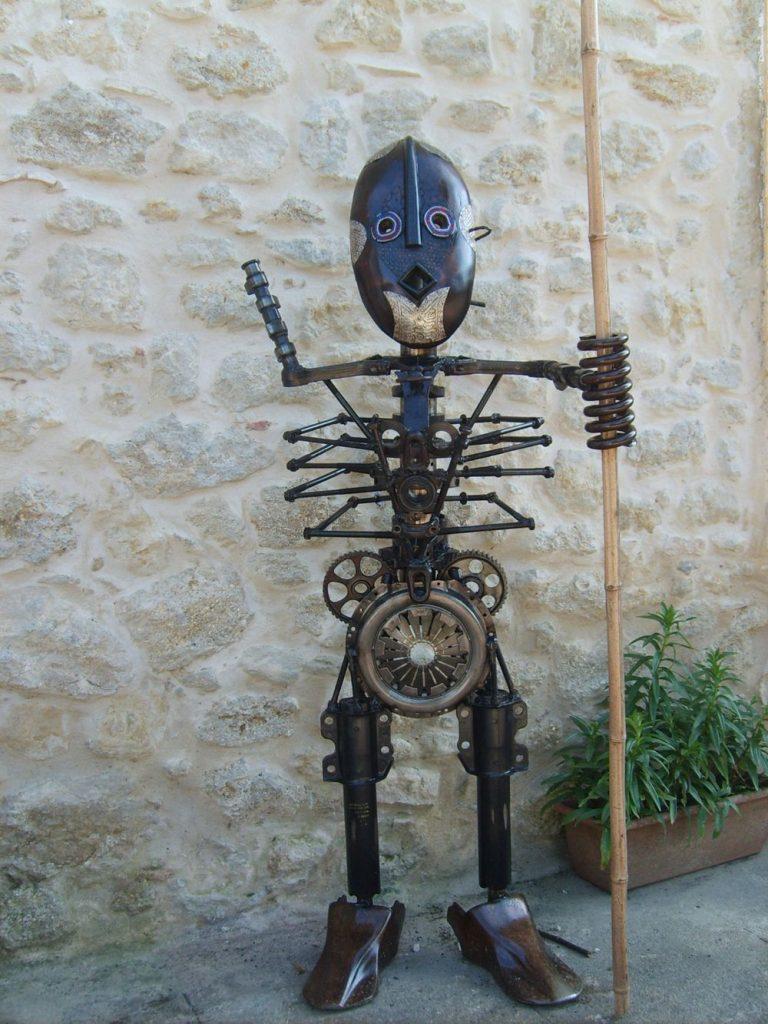 berger massaï sculpture récupération