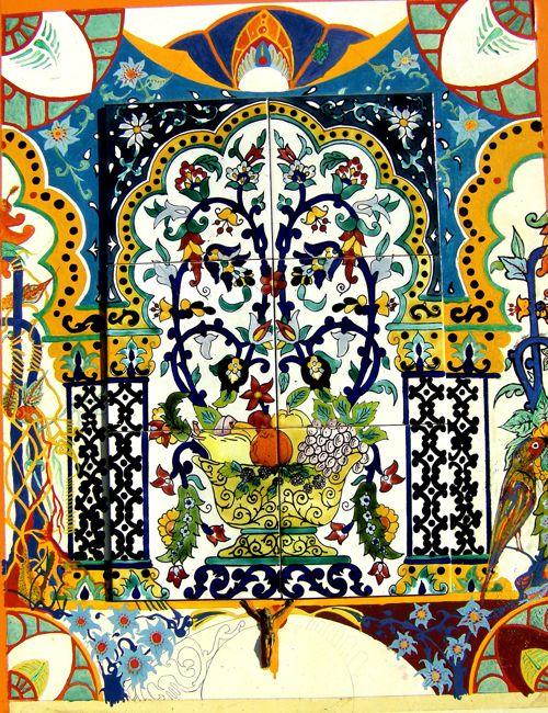 Fresque murale Au royaume du paradis