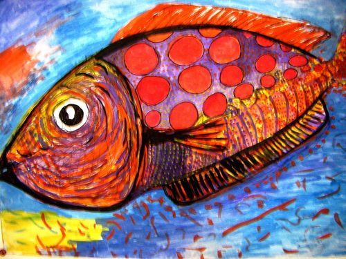 dessin poisson aquarelle