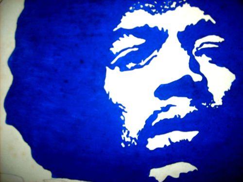 Aquarelle Jimi Hendrix