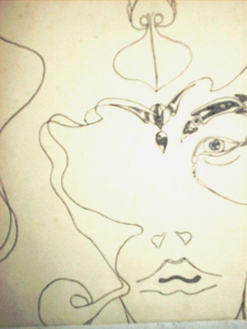 dessin visage