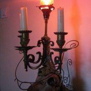 chandelier gothique sculpture sur fer