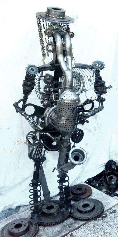 el-pistouflero sculpture métallique