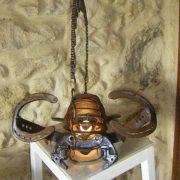 el scorpio sculpture sur fer