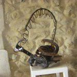el scorpio sculpture métal
