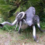 éléphant sculpture sur fer